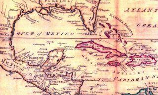 West Indies Caribbean Islands Florida 1797 Map