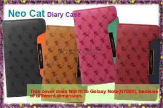Samsung Galaxy Note II 2 N7100 Cell Phone PU Leather Case Cover Neocat
