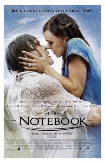The Notebook Ryan Gosling Rachel McAdams Romantic Love Movie Poster