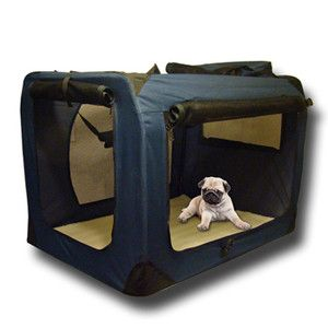 Portable Pet Dog Cat House Soft Travel Crate Carrier Cage Kennel