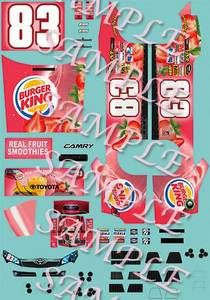 64 2012 Landon Cassill Burger King Strawberry Smoothie decals