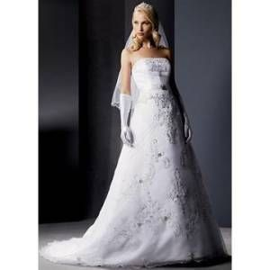 Wedding on Used Oleg Cassini Wedding Dress Style Ct232