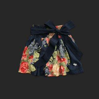Abercrombie Carley Navy Floral Mini Skirt XS s L