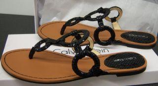 Calvin Klein E0205 Jacky Printed Python Womens Sandals Black