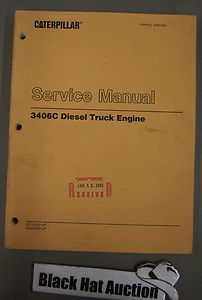 CAT Caterpillar 3406C Diesel Truck Engine Service Shop Manual