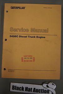 CAT Caterpillar 3406C Diesel Truck Engine Service Shop Manual