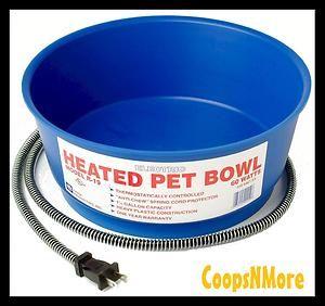 ★6QT 1 5gal Cap Heated Dog Pet Waterer★cat Water Bowl Dish