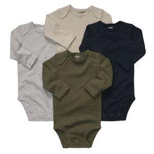 NWT Carters Infant Boys Heathered Long Sleeve Bodysuits Were $26