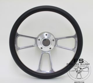 14 Billet Steering Wheel w Billet Adapter 4 Golf Carts