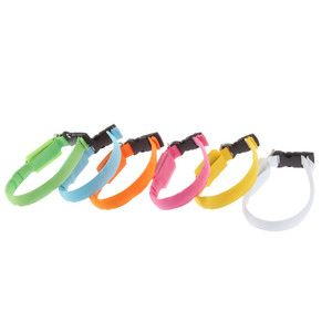 LED Dog Collar Night Safety Pet Flashing Light Adjustable Cat Collar