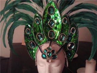 BNWOT Green Samba, Passista, Carnival, Rio Costume & Headdress, 0 6