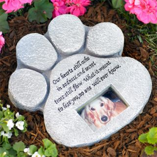 New Paw Memorial Garden Stone Cat or Dog Picture