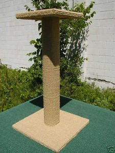30 Delux Cat Scratching Post with Perch Sienna