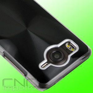 New HTC Inspire 4G ATT Slim Hard CD Line Hybrid Wave Case Cover Black