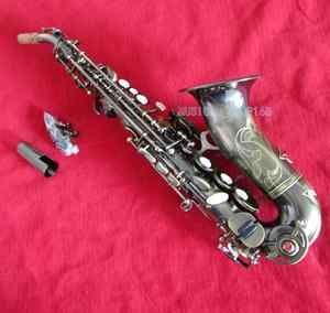 Antique New Curved Soprano Saxophone BB Sax with Case
