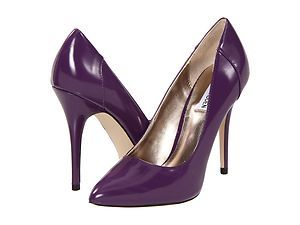 Steve Madden Caroll Purple Pumps Shoes Heels Patent Leather Stiletto