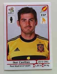 Euro 2012 Sticker 287 Iker Casillas Real Madrid Spain Mint