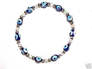 Evil Eye Bracelet Greek Good Luck Charm AB SWAROVSKI7 5