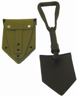 US Military E Tool Entrenching Shovel with Olive Drab Cover New