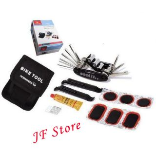 Bicycle Cycling Bike Tire Tyre Repair Set With Carry Pouch Tool