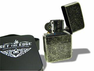 Celtic Get The Edge® Knotwork Irish Cross Lighter w Black Gift Tin
