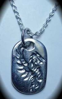 Fire Dragon Fire Flame Celtic Authentic Sterling Silver Pendant Charm