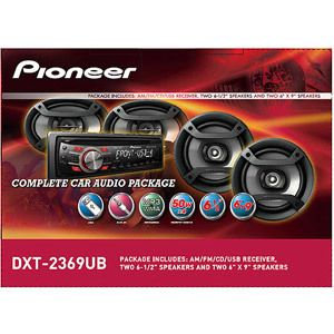 PIONEER Car Stereo Radio Package w/ Speakers 200w Amp Amplifier Power