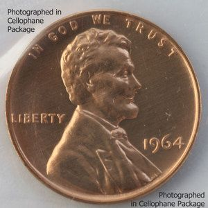 1964 Lincoln Penny One Cent Proof Copper 1c Coin from US Mint Proof