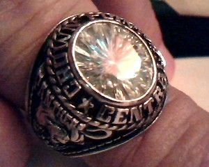 Mens Crown Point Central High School Class Ring Size 10 25