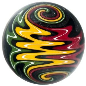 Glass Marble Rich Carter Cajun Glass Ying Yang Milli w Wig Wag
