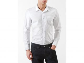 Calvin Klein Mens Slim Fit Dyed Poplin Casual Shirt