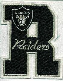 Oakland Raiders NFL Football 5 Letter Team Logo Patch