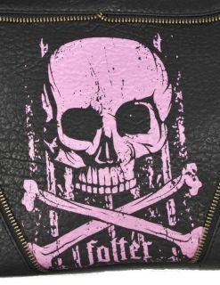 folter skull n crossbones bag rocker skull chains handbag