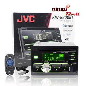 JVC KW R800BT In Dash AM FM CD Car Stereo Receiver w Bluetooth AUX