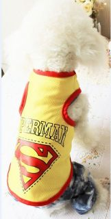 2012 New Doggie Pet Cat Dog Spring Summer Cloth Vest Cute Apparel 1018