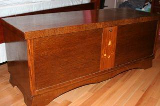 Vintage LANE Cedar Blanket / Storage Chest Original Paperwork/Tags