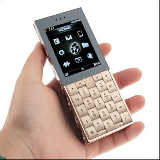 Unlocked GSM CDMA Luxury Gold Mobile Phone Raod R5