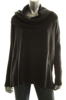 Cece New Gray Cashmere Long Sleeve Cowl Neck Ribbed Pullover Sweater