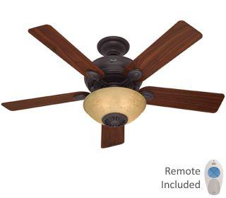 Hunter 52 New Bronze Heater Remote Ceiling Fan HR21894