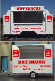 Catering Trailer Burger Van Vinyl Stickers Graphics 1