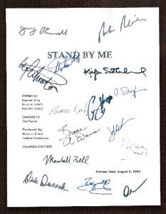 STAND BY ME SCRIPT SIGNED RPT 15X RIVER PHOENIX, COREY FELDMAN