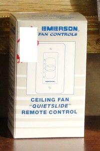 Emerson Four Speed Ceiling Fan Slide Wall Remote Control SW46LA Almond