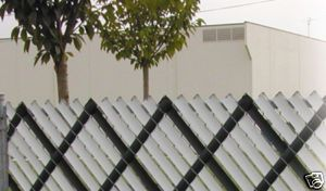 Height Chain Link Aluminum Fence Privacy Slats Green