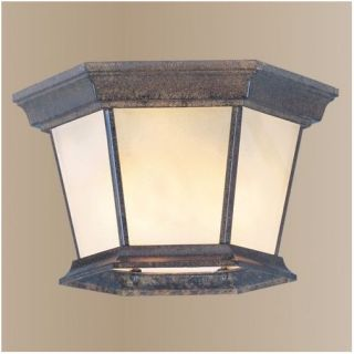 NEW 3 Light Outdoor Flush Mount Ceiling Lighting Fixture, Bronze