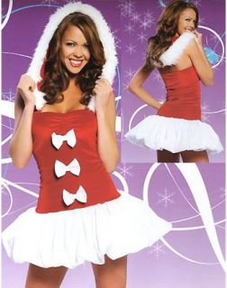 Lovely Mrs Claus Christmas Costume Dress Inspired by Lady Gaga
