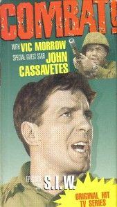 VHS Combat T V Show Vic Morrow Guest John Cassavetes
