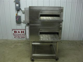 Impinger 1132 Conveyor Belt Double Deck Stack Pizza Sub Oven w/ Stand