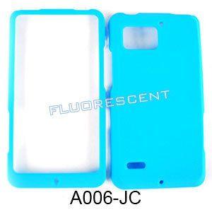 Fluorescent Light Blue Phone Cover Case for Verizon Motorola Droid