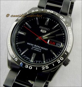 SEIKO 5 Sports automatic SNKE03J1 black PVD Made in Japan Gold