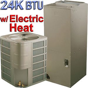 Central Air Conditioner AC Dehumidifier Heater A C Electric Heat 24000